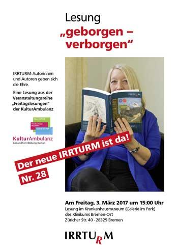 Plakat zur Lesung – So leben wir